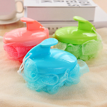 Factory Outlet Lace Mesh Bath Sponge With Handle Bathing Spa Shower Scrubber Muticolor Bath Brushes,JSF-Bath Brushes-003