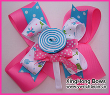 5.5 inch boutique kids big decorations for hair of grosgrain ribbon bows with clips for girls hair  accessories hairpins
