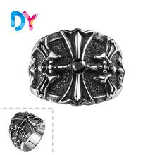 2016 Men's Gothic Star of Chaos Signet Magic Magick Alchemy Radiating Arrows Eternal Champion 316L Stainless Steel Ring