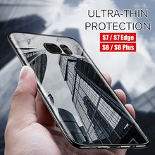 Electroplated frame Case for Samsung Galaxy S8 S8 Plus S7 Transparent Silicone Phone Cases for Samsung S7 Edge Cover Case Coque(China)