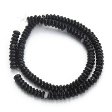 1 Strand Natural Black Bulk Jewelry Accessories Loose Spacer Seed Stone Beads 3*6mm DIY Jewelry Material Creative Craft(China)