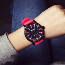 relojes mujer 2016 fashion silicone quartz watch women men casual big dial dress wristwatches Candy colors Outdoor sport watch