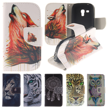Animals Wallet For Coque Samsung Galaxy S3 Mini Case Leather & Silicone Flip Cover Samsung Galaxy S3 Mini Phone Case i8190