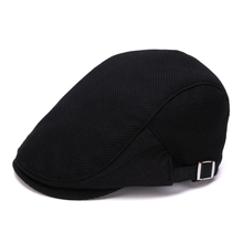 Cotton women's summer hat solid color black and white check classic elegant all-match cap beret