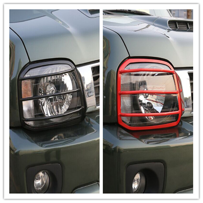 For SUZUKI Jimny 2PCS New Headlights Head Light Lamp Turn Signal Lights Guards Cover Exterior Accessories Metal Steel Free Ship<br>