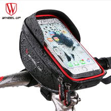 WHEEL UP Waterproof MTB Road Bike Bicycle Front Bag Cycling Top Tube Frame Handlebar Bag 6.0 inch Cycling Pouch Cellphone Bag(China)