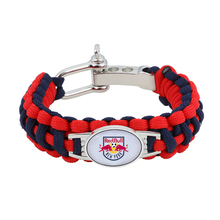 MLS New York Red Bulls Paracord Bracelet Adjustable Survival Bracelet Soccer Teams Bracelet Drop Shipping!(China)