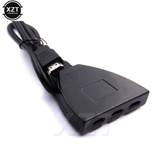 Newest Hot hdmi hub 3 Port 1080P 3D HDMI Switcher Switch Splitter Hub with Cable for PC TV HDTV DVD PS3 Xbox 360