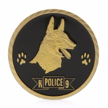 coin In Dogs We Trust With Paws we Bust Police Dogs Commemorative Challenge Coins Art