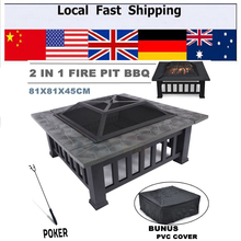 Hot Outdoor Pit bbq Grill Table Garden Patio Home Grill Brazier Heater Fireplace Brazier Family BBQ Grill