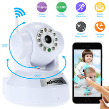 KKmoon Wireless Wifi IP Camera PnP P2P Home Security Camera Pan Tilt IR-Cut Night Vision CMOS CCTV IP Camera Phone Control