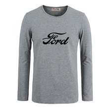 Ford Mustang Symbol CAR Men Customized Cotton Long Sleeve Tops Tees  for Boy Casual Clothing Anime cosplay family T shirt
