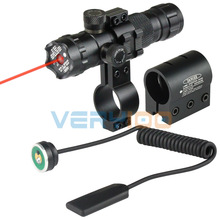 Tactical Adjust Red Dot Laser Sight Rifle Scope With 2 Mounts 2 Switches Picatinny Weaver Rails Hunting Scopes Air Soft