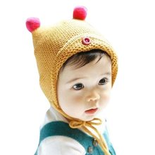 1 PCS Baby Hat Boy Girl Infant Toddler Cute Soft Crochet Bear Hat Warm Newborn Cap Photography Prop Baby Hat