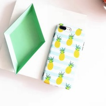 New Summer Fruit Pineapple Watermelon Peach Phone Case for iPhone 7 7 Plus 6 6s 6Plus 6sPlus Stripe Soft TPU Back Case Cover