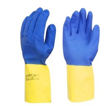 Acid and alkali resistant chloroprene rubber gloves chemical resistant protective industrial detergent thickening(China)