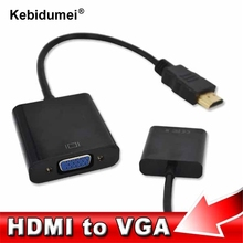 1080P HDMI to VGA Converter HDMI2VGA Adapter Cable for All-In-One PC Tablet Notebook Desktop to HDTV Monitor Projector Hot sale(China)