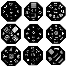 New 30 Styles Octagonal Nail Art Stamp Template Image Plate Nail Stamping Plates Print DIY Nail painting Templates Stamper(China)