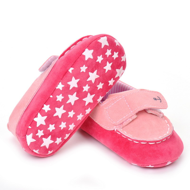 17 Fashion Newborn Baby Girl Boy Shoes Soft Sole Infantil Toddler Baby Boy Sneakers Blue Baby Mocassins Crib Peas Flock Shoes 12