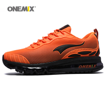 ONEMIX Air Men Running Shoes Nice Trends Run Breathable Mesh Sport Shoes for Boy Jogging Shoes Outdoor Walking Sneakers Orange