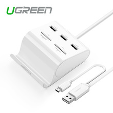 Ugreen All in 1 USB 3.0 HUB 3 Ports with Card Reader SD TF Flash Multi Memory Micro USB OTG Card Reader  for Laptop Mobile Phone