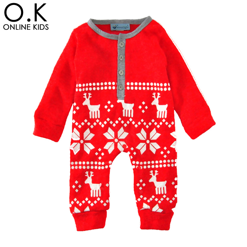 Christmas Baby Rompers Costume 2017 Winter Warm Cartoon Deer Long Sleeve Newborn Romper For Boy Girl Jumpsuit Cute Baby Clothes<br><br>Aliexpress