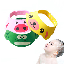 Adjustable Baby Hat For Bathing Children In The Barhub Shampoo Cap Animal Baby Shower Cap Bathing Visor Baby Care Soft Hat(China)
