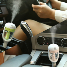 Newest Auto Humidifier Air Purifier For Car Charger DC 12V Auto Power Off Sprayer Add Water Essential Oil Fragrance New Sale(China)