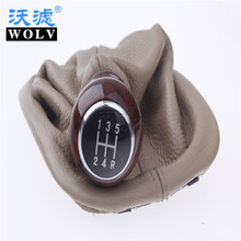 genuine leather manual gear shift lever shift dust jacket hanging accessories used for Volkswagen Passat B5