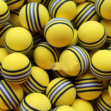 50Pcs Yellow Golf Sports Sponge Balls Light Indoor Outdoor Training Foam Lot