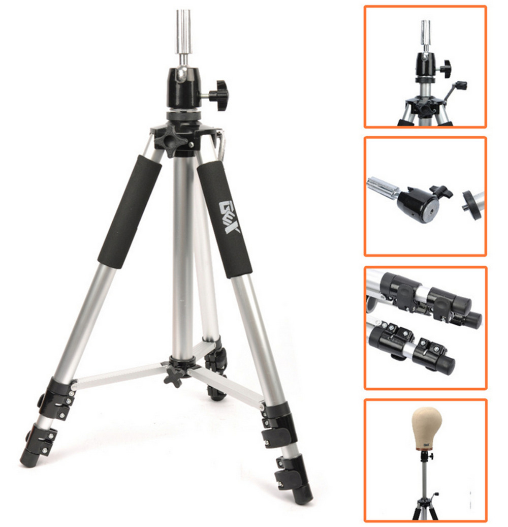 Tools & Accessories Wig Stands 2019 New Style Rose Tripod Training Doll Head Mannequin Head Manikin Canvas Block Head Stand Tripod Aluminium Alloy Round Leg Strong Stable