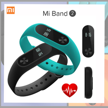 Global Version Xiaomi Mi Band 2 miband 2 Smartband OLED display touchpad heart rate monitor Bluetooth 4.2 fitnes Screen in Stock(China)