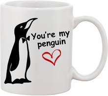 Valentines Gift, You're My Penguin Mugs coffee mugs ceramic Tea  porcelain decal home kitchen milk mugen