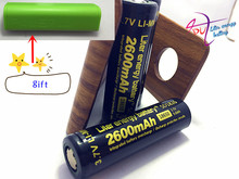 2 pieces of battery Free shipping Wholesale 100% Authentic Liter energy battery 3.7v 18650  2600mah li-ion battery