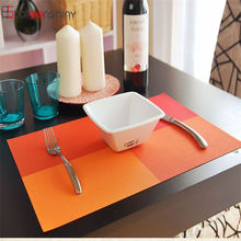 Europe Style Table Mats PVC Heat-insulated Placemat Dinning Bowl Waterproof anti-skidding Dining Table Decoration Kitchen Tools