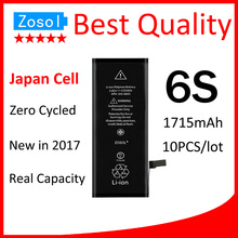10pcs/lot Best Quality 0 zero cycle Battery for iPhone 6S 1700mAh 3.82V Replacement Repair Parts(China)