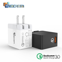 TIEGEM 18W Fast Quick Charge 3.0 USB Wall Charger EU/US Mobile Phone Charger for Samsung S7 Xiaomi 5 Huawei Tablet