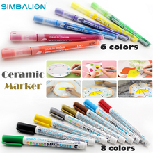 simbalion ceramic marker direct liquid paint sanford sharpie markers silver gold white black metallic pens for Doodle glass Mug