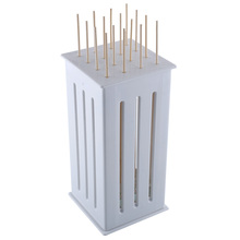 16 Bamboo Making Box BBQ Satay Kebab Kabob Shish Shaslick Yakatori Shish Maker Skewers Grill Meat Cutter