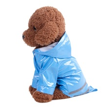 Dog Waterproof Raincoat Reflective Strip Pet Dog Clothes Raincoat Glisten For Small Medium Puppy Dog Raincoat Hooded Clothes(China)