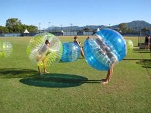 Customized 1.5m Inflatable Ball Suit , Bubble Soccer Suit , Bubble Football Suit , Hot Sale PVC Zorb Inflatable Ball(China)