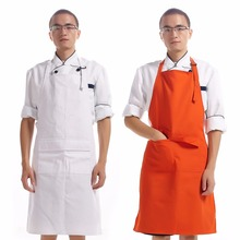 2017 Hot Sale hanging neck male apron canvas long apron restaurant kitchen work chef customizable apron 20030
