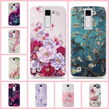 "Silicone Case For LG K8 Lte K350 K350E K350N 5.0"" K 8 Phone Back Cover Phoenix 2 Escape 3 Bag Case 3D Relief Printing Cover Case(China)"