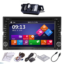 "Win 8 3D UI Double 2 Din 6.2"" TFT Touch Screen Car Bluetooth Multimedia Player Radio Stereo Built-in GPS Steering Wheel Control(China)"