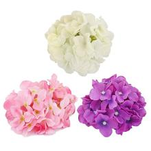 20pcs Silk Hydrangea Flowers Artificial Flower Heads For DIY Wedding Decoration Accessories Floristry Fake Flowers(China)