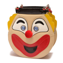 The New Ladies handbag Laughing and laughing  people Woman bags Clown pack Shoulder bag Portable oblique cross Drop shipping