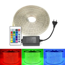 Holiday LED String Light AC 220V 5050 LED Strip Cuttable Rope Tape Lamp EU Plug RGB /White /Warm/ Muticolor Christmas Decoration
