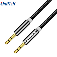 Unifish 3.5mm Jack Audio Cable Gold Plated Jack 3.5 mm Male to Male Cloth Audio Aux Cable For iPhone Car Headphone Beats Speaker