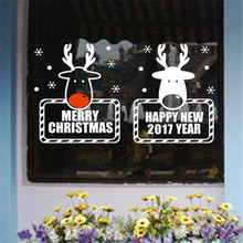 Merry Christmas Wall Art Removable Home Vinyl Window Wall Stickers Decal Decor Deer Christmas snowflake glass stickers wallpaper