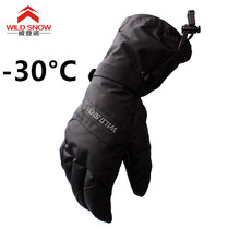 New Men's Ski Gloves Snowboard Gloves Snowmobile Motorcycle Riding Winter Gloves Windproof Waterproof Unisex Snow Gloves(China)